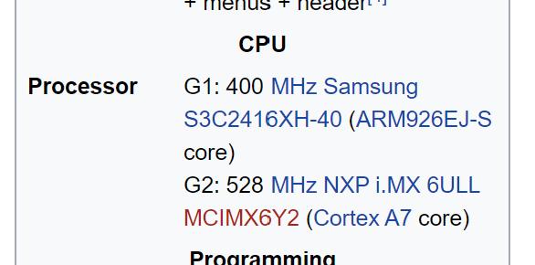 HP Prime G2 SoC Specification. The NXP i.MX 6ULL (Ultra Lite) SoC features a uni-core Cortex A7 processor.